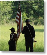 Carrier Of The Flag Metal Print