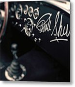 Carroll Shelby Signed Dashboard Metal Print