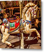 Carrousel Horse Ride Metal Print