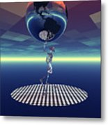 Carrying The Weight Of The World Metal Print