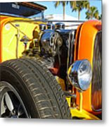 Cars - 1932 Ford Roadster Hot Rod - Engine And Tire Close Up Metal Print