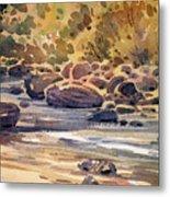 Carson River In Autumn Metal Print