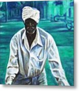 Cart Vendor Metal Print