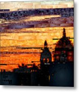 Cartagena Colombia Night Skyline Metal Print