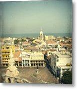 Cartagena De Indias Seen From Above Metal Print