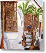 Cartagena Peddler I Metal Print