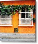 Cartagena Street Metal Print