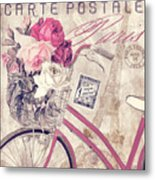 Carte Postale Bicycle Metal Print