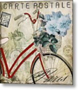 Carte Postale Vintage Bicycle Metal Print
