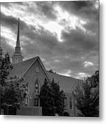 Carter Chapel Bridgewater College Va - Bw 1 Metal Print