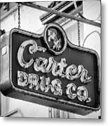 Carter Drug Co - Bw Metal Print