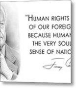 Carter On Human Rights Metal Print