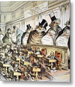 Cartoon: Anti-trust, 1889 Metal Print