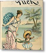 Cartoon: Cuba, 1902 Metal Print