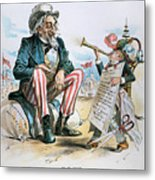 Cartoon: Uncle Sam, 1893 Metal Print