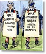 Cartoon: U.s. Neutrality Metal Print