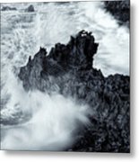 Carved By The Sea Metal Print