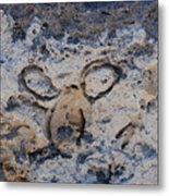 Carved Catface Metal Print