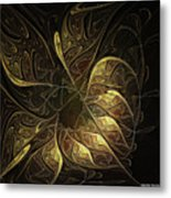 Carved In Gold Metal Print