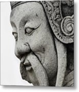 Carved Monk Statue Metal Print
