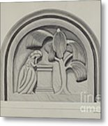 Carving For A Tombstone Metal Print