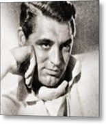 Cary Grant, Hollywood Legend By John Springfield Metal Print