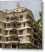 Casa Mila In Barcelona, Spain Metal Print