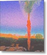 Casapaz  Palm At Dawn Metal Print