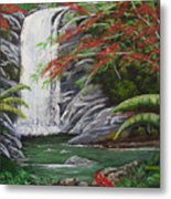 Cascada Tropical Metal Print