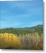 Cascade Fall Metal Print