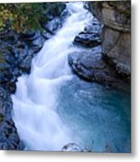 Cascade In The Maligne Canyon Metal Print