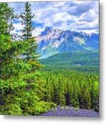 Cascade Mountain Metal Print