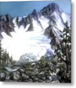 Cascade Splendor  Mount Fury Metal Print