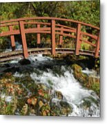 Cascade Springs With Bridge Metal Print