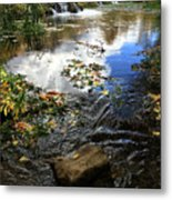 Cascade Springs With Rock Metal Print