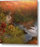 Cascade Valley Sunrise Metal Print
