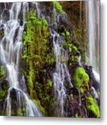 Cascades Of Burney Falls Metal Print