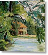 Cascadilla Boathouse Ithaca New York Metal Print by Ethel Vrana