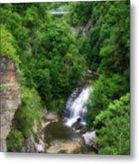 Cascadilla Waterfalls Cornell University Ithaca New York 01 Metal Print