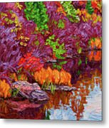 Cascading Colours, Tunnel Island Metal Print