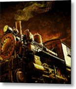 Casey Jones And The Cannonball Express Metal Print