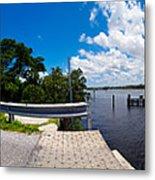Casey Key Swing Bridge Open For Boats Metal Print