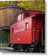 Cass Railroad Caboose Metal Print