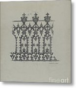 Cast Iron Fence Metal Print