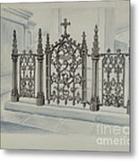 Cast Iron Gate And Fence Metal Print