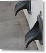 Cast Iron Rain Spouts In Stucco Building Photograph By Colleen Metal Print