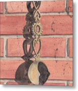 Cast Iron Welsh Love Spoon Metal Print