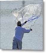 Cast Net Metal Print
