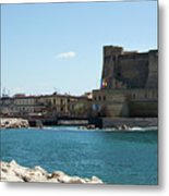 Castel Dell'ovo, Naples, Italy Metal Print