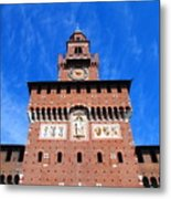 Castello Sforzesco Tower Metal Print